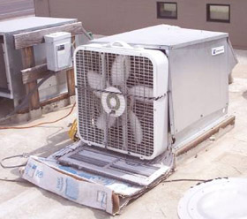 Dangerous condenser fan motor installation